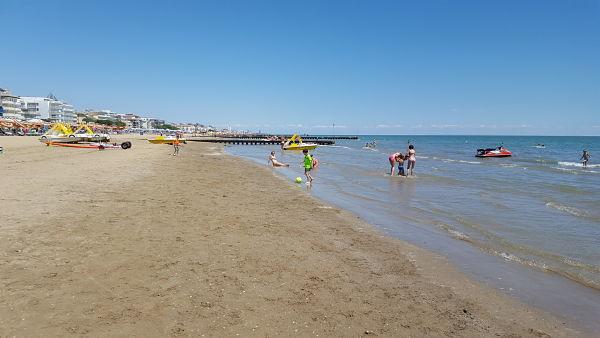 Pláž v Lido di Jesolo
