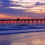 Západ slunce na Daytona beach