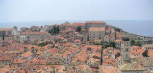 Pohled na Dubrovnik z hradeb