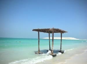 Odpočívadlo na pláži Jumeirah Beach v Dubaji