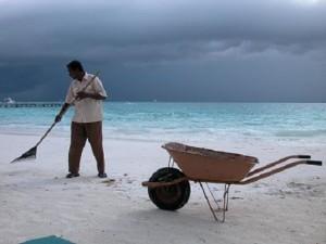 Práce na Maledivách