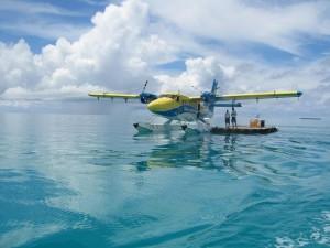 Klasický dopravní prostředek na Maledivách