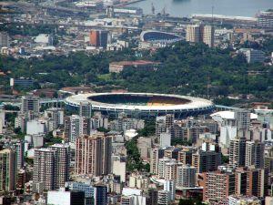 Slavný stadion v Rio De Janeiru Maracana, Brazílie