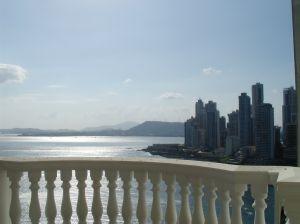 Panama pohled na moře z balkónu