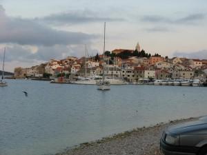 Pohled na město Primošten, Chorvatsko 2009