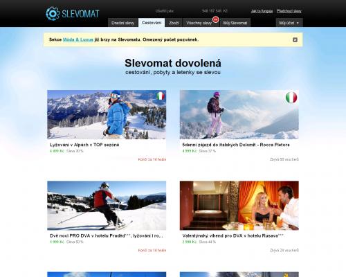 Screen slevomat.cz