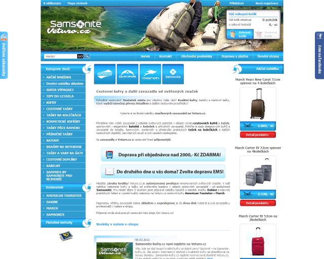 Veturo.cz - zavazadla a cestovní tašky